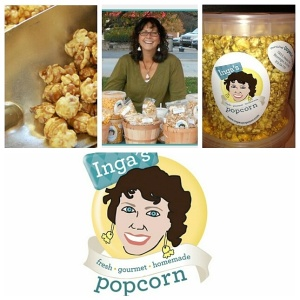 Inga's Popcorn....Seriously if you haven't tried this, you are missing out on The Best popcorn. Made right here in Indiana. Come in...We will give you a sample to try.