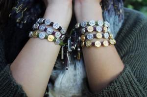 My Saint My Hero giving bracelets