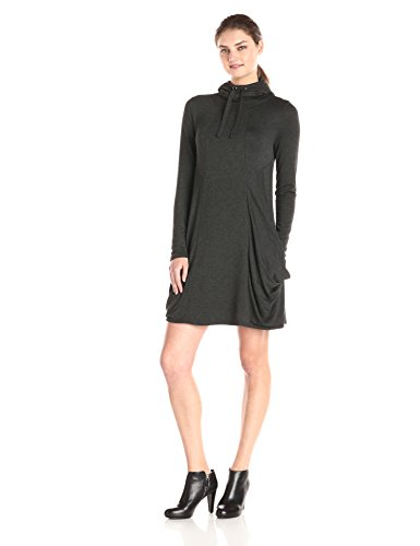 Kensie-Womens-Drapey-French-Terry-Dress-Heather-Charcoal-Medium-0