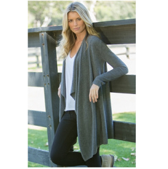 barefoot dreams Bamboo Chic Lite Calypso Wrap in Graphite_1